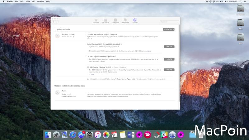 OS X El Capitan 10.11.3 Dirilis dengan Perbaikan Security dan Stabilitas