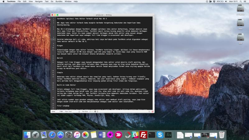 TextMate: Aplikasi Teks Editor Terbaik untuk Mac OS X