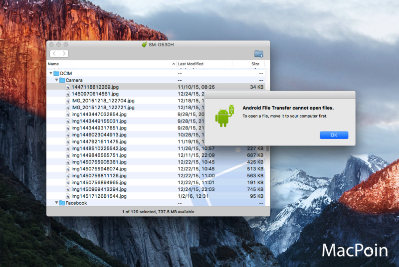 Cara Transfer (Copy / Paste) File dari Android ke Mac OS X