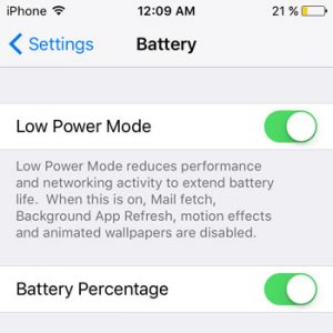 Mengenal Low Power Mode di iOS