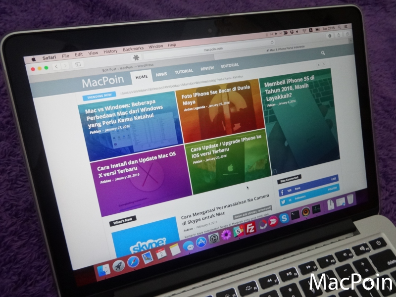 Review MacBook Pro 13-inch Retina Display dengan Force Touch Trackpad