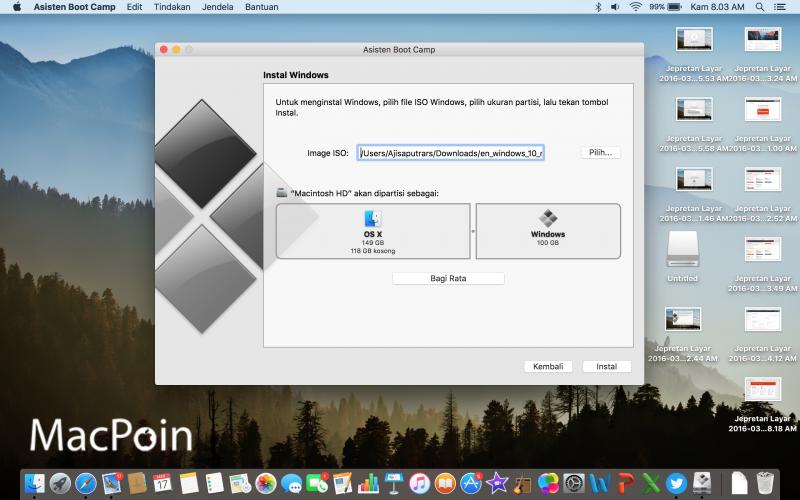 Beginilah Cara Install Windows Di Mac OS X Dengan Boot Camp
