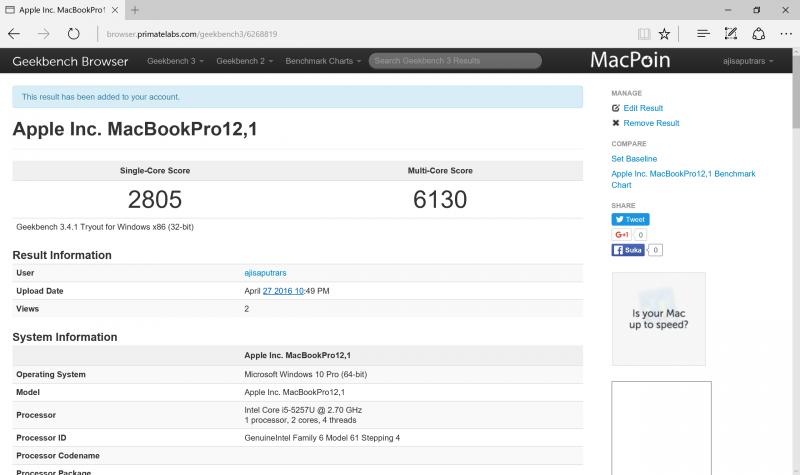 Perbandingan Kinerja OS X dan Windows di MacBook Pro Retina Display
