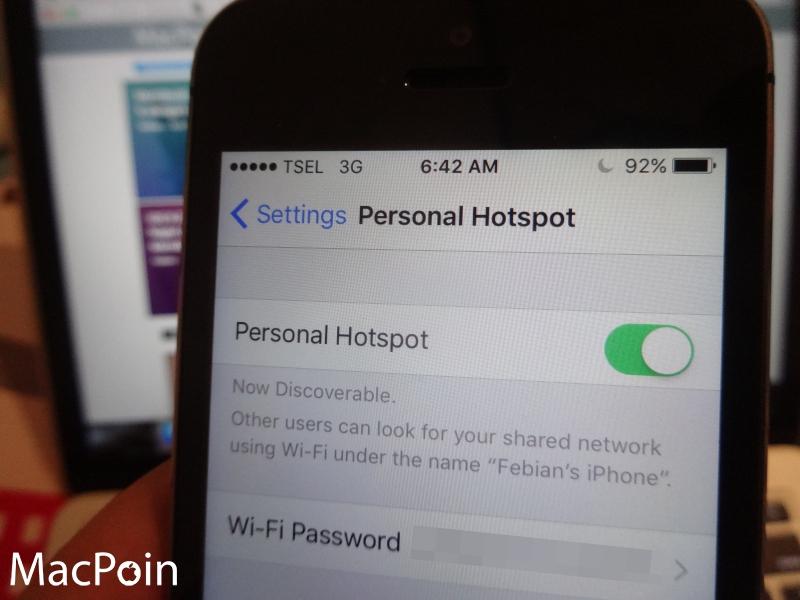 Cara Membagi Koneksi Internet di iPhone (Personal Hotspot / Tethering iPhone)