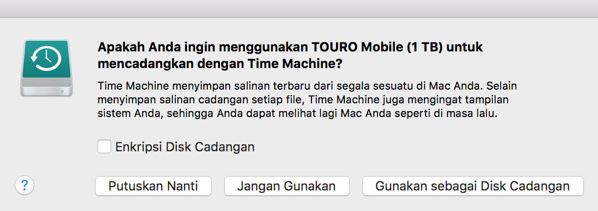 Backup Mac Kamu dengan Time Machine