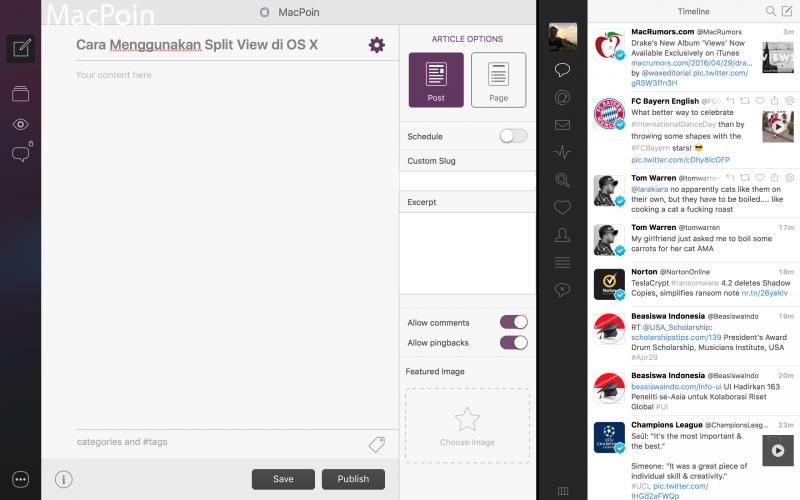 Begini nih Cara Menggunakan Split View di OS X