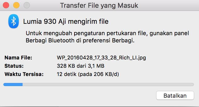 Begini Caranya Berbagi File via Bluetooth dengan OS X