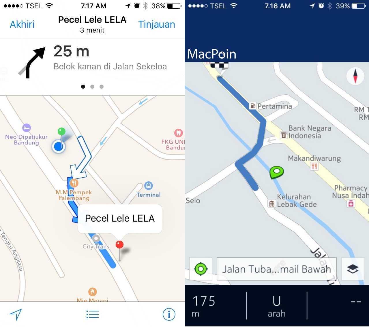 Review Apple Maps vs Google Maps