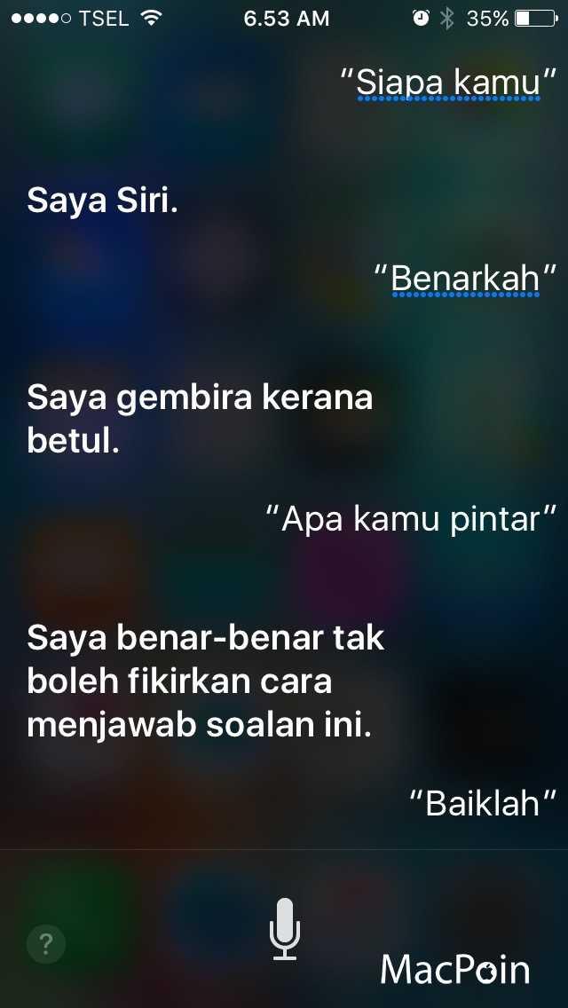 Siri Sudah Mendukung Bahasa Melayu. Apa Pendapatmu?