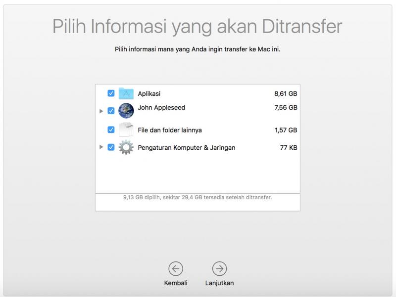 Memindahkan Data Mac ke Mac Baru dengan Asisten Migrasi