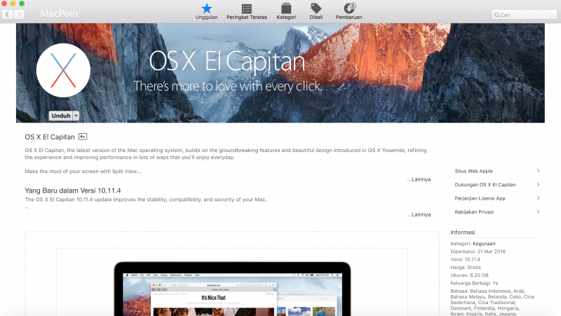 Menginstall OS X ke Drive Eksternal