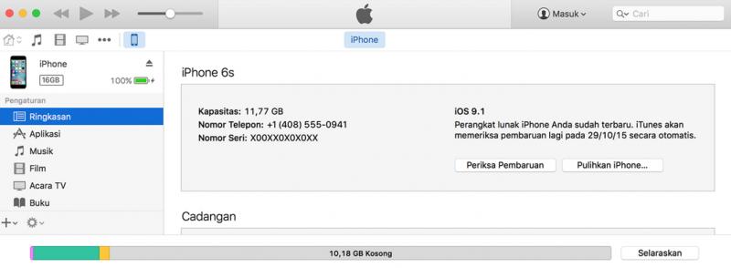 Cara Restore Perangkat iOS Menggunakan iTunes