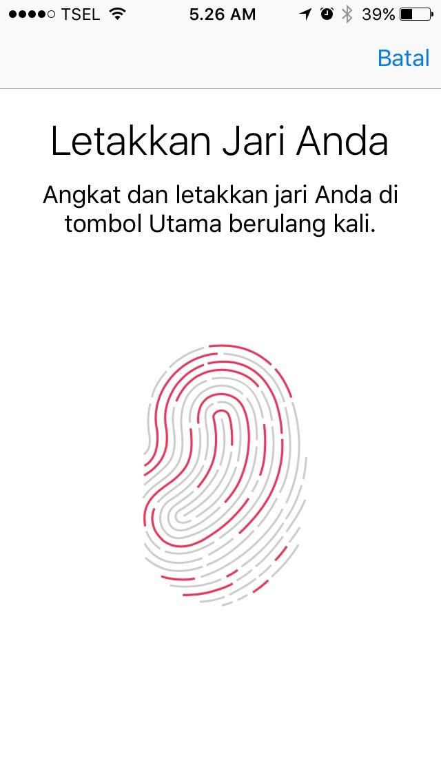 Seperti ini cara menggunakan Touch ID