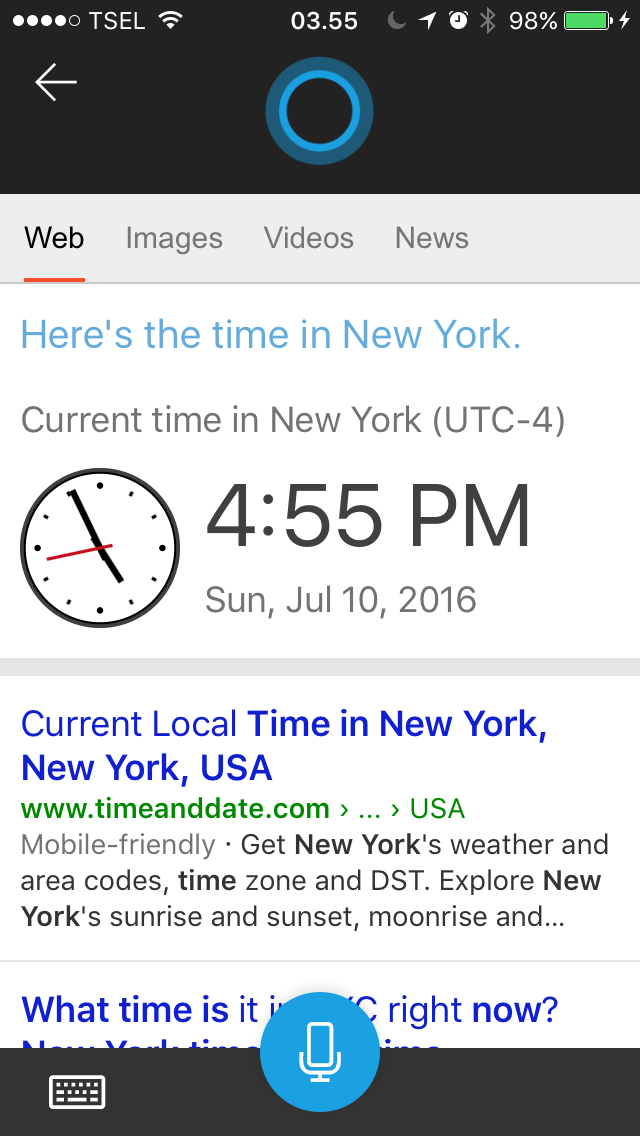 Review Cortana di iOS