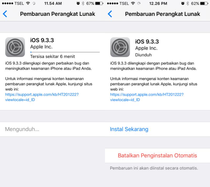 IOS 9.3.3 Sudah Dirilis Secara Resmi