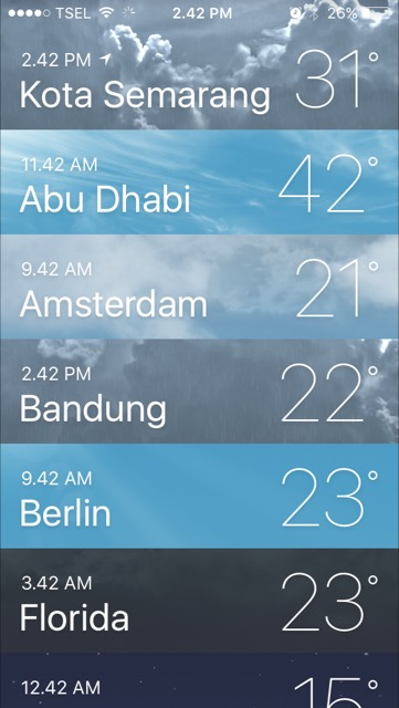 Begini Cara Memantau Cuaca Menggunakan iPhone
