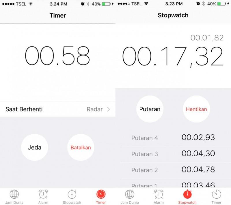 Begini Cara Menggunakan Stopwatch dan Timer di iPhone