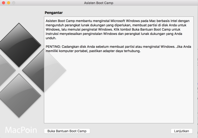 Menghapus Windows dan Menyatukan Partisi Boot Camp