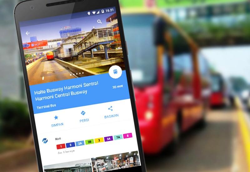 Google Maps Merilis Fitur Transit TransJakarta