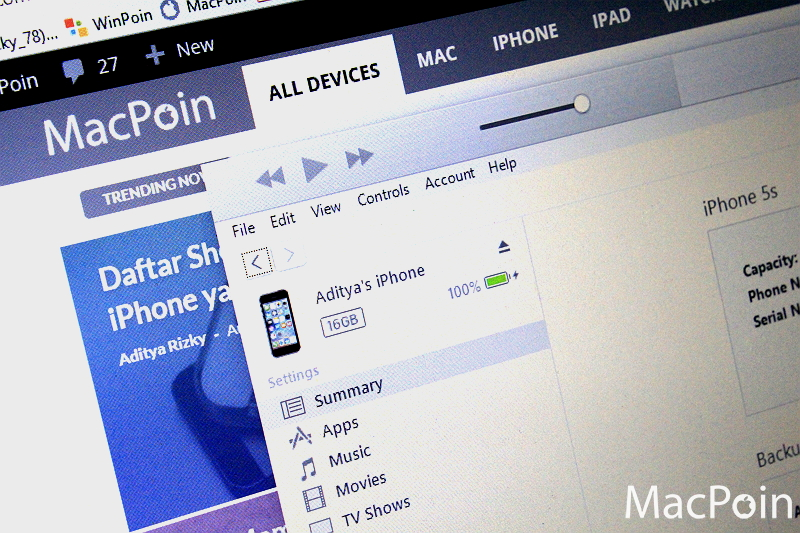 Cara Authorize iTunes pada Komputer Windows (1)