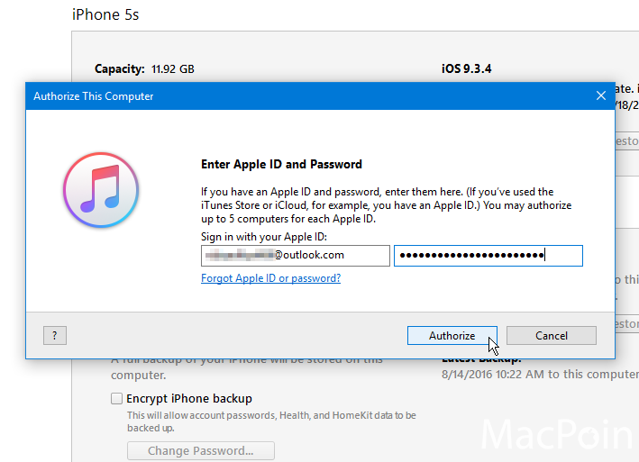 Cara Authorize iTunes pada Komputer Windows (2)