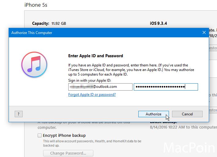 Cara Authorize iTunes pada Komputer Windows (2)