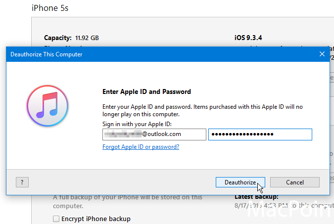 Cara Deauthorize iPhone pada iTunes di Komputer Windows (2)