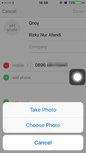 Cara Memasang Foto pada Kontak iPhone (1)