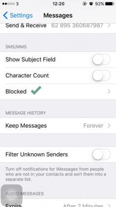 Cara Memblokir Kontak pada iMessage dan Phone di iPhone (2)