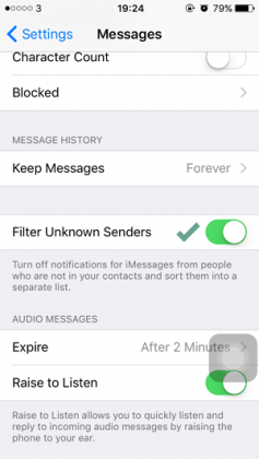 Cara Memfilter SMS dari Nomor yang Tidak Dikenal pada iPhone (2)