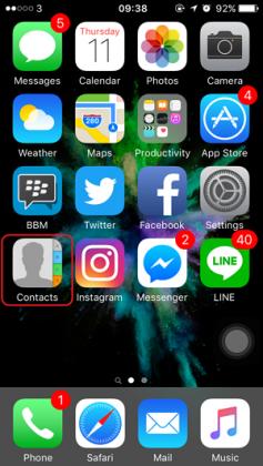 Cara Menambahkan Akun Sosmed pada Kontak iPhone (1)