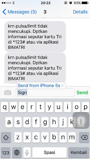 Cara Menambahkan Signature pada SMS di iPhone (7)