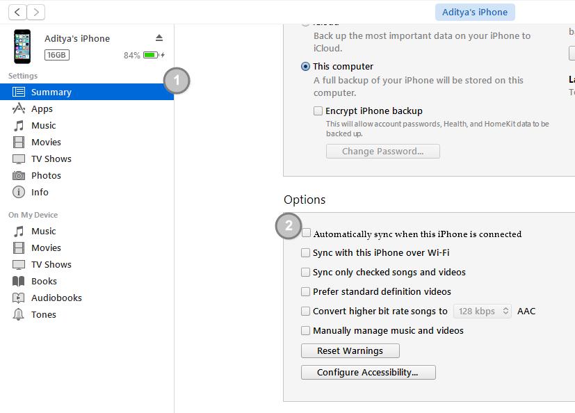 Cara Mencegah Terbukanya iTunes Ketika iPhone Dihubungkan ke PC Mac (2)