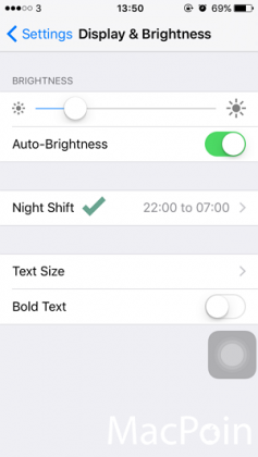 Cara Mengaktifkan Mode Night Shift di iPhone iPad (iOS 9 (2)