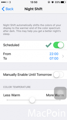 Cara Mengaktifkan Mode Night Shift di iPhone iPad (iOS 9 (3)