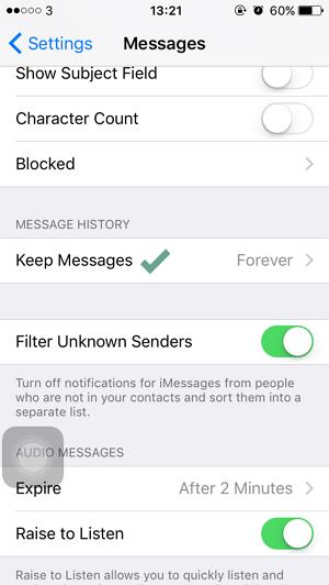 Cara Menghapus SMS Lama Secara Otomatis di iPhone (3)