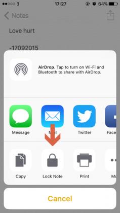 Cara Mengunci Note dengan Touch ID atau Password di iPhone iPad (3)