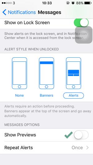 Cara Menyembunyikan Notifikasi SMS dari Lock Screen iPhone dan iPad (3)
