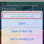 Cara Melihat Preview Link pada Safari di iPhone / iPad