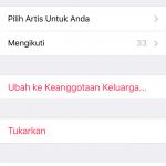Mematikan Perpanjangan Otomatis Apple Music