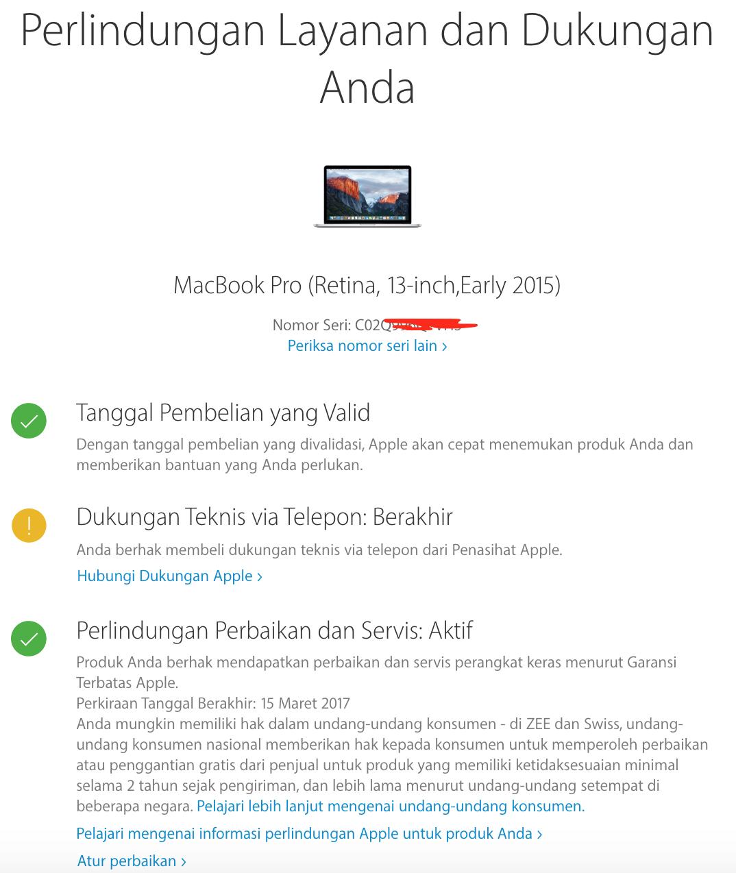 Cara Cek Garansi Produk Apple