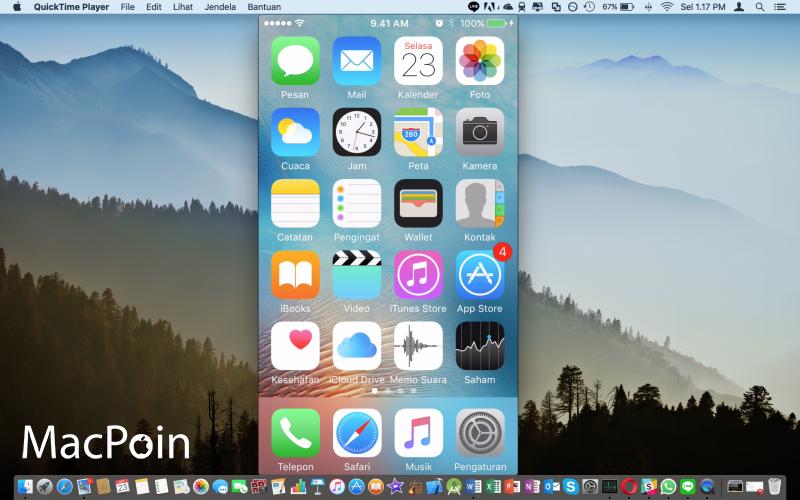 Rekam Tampilan Layar iPhone Dengan QuickTime