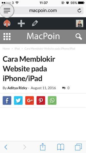 Mengatur Tampilan Reader Mode pada Safari di iPhone iPad (1)