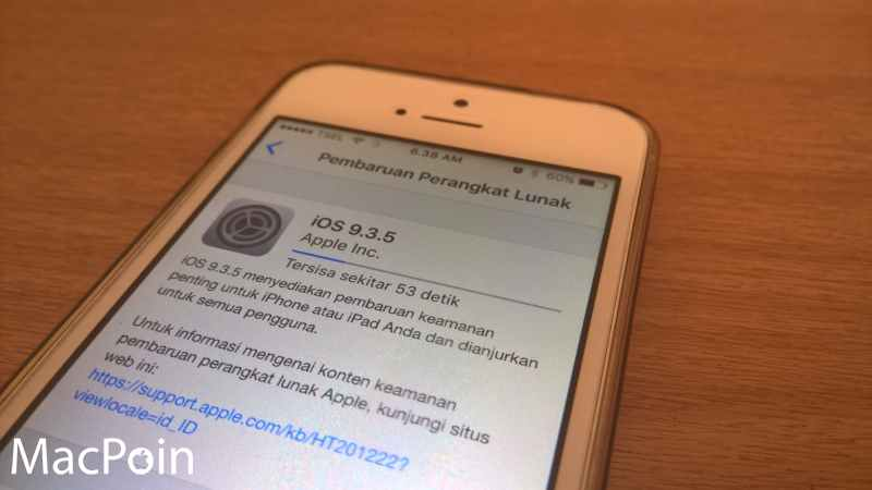 Kejutan! iOS 9.3.5 Sudah Dirilis