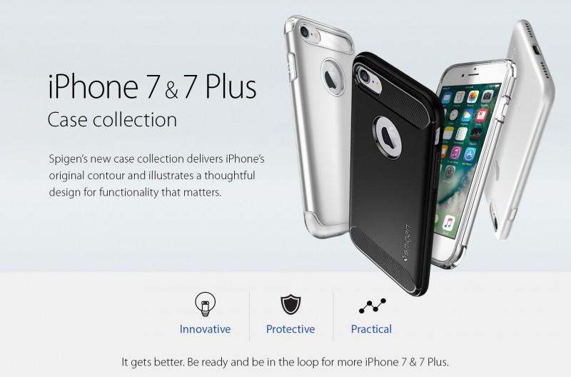 Spigen Beberkan Desain iPhone 7 dan iPhone 7 Plus