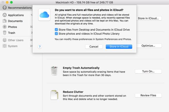Apakah Pengoptimalan Storage Di macOS Sierra Menggunakan Kapasitas iCloud?