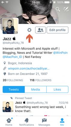 Cara Mengaktifkan Night Mode pada Twitter di iPhone iPad (2)