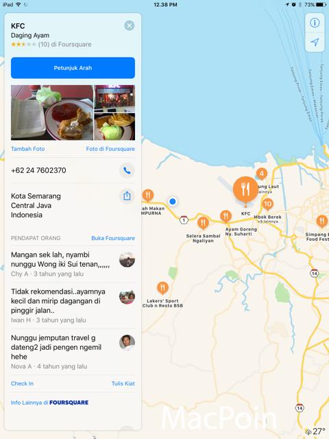 Review Fitur Keren Apple Maps di iOS 10