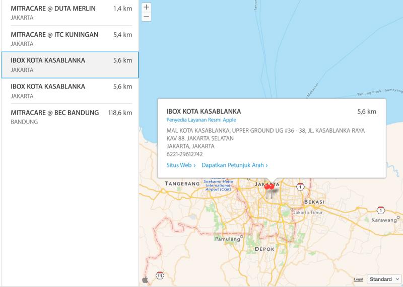 Inilah Tempat Service Center iPhone Resmi Apple Indonesia