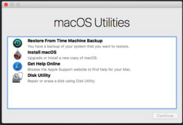 How to restore backup using time machine